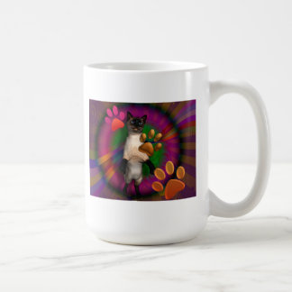Groovy Kitty Basic White Mug
