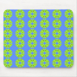 groovy lime green and turquoise mouse mats