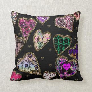 """""""Groovy Love Heart Pillow"""".* Cushion"""