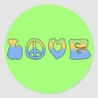 groovy love stickers
