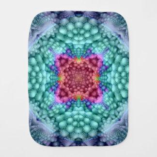 Groovy Man Kaleidoscope  Burp Cloth