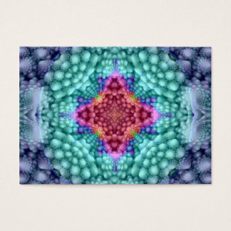 Groovy Man Pattern  Colorful Business Cards