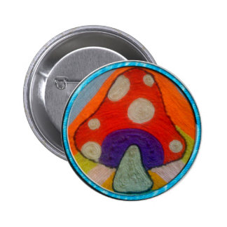 Groovy Mushroom Button