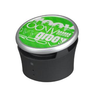 Groovy; Neon Green Stripes Bluetooth Speaker