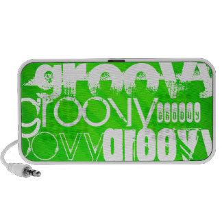 Groovy; Neon Green Stripes Portable Speaker