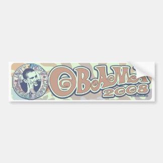 Groovy Obama 2008 Gear Bumper Sticker