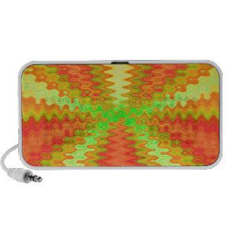 groovy orange green yellow notebook speakers