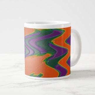 Groovy orange jumbo mug