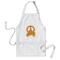 Groovy Orange Peace Sign Standard Apron