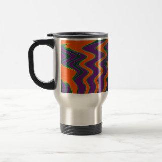 groovy orange purple stainless steel travel mug