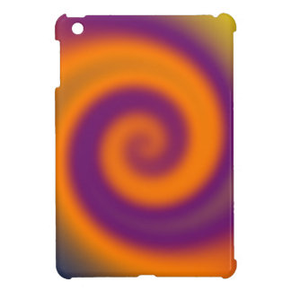 Groovy Orange Purple Swirl Art Case For The iPad Mini