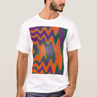 groovy orange purple T-Shirt