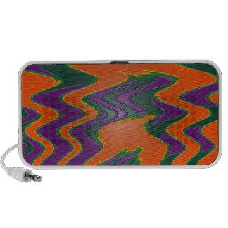 groovy orange purple teal iPod speakers