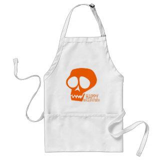 Groovy Orange Skull - Happy Halloween! Standard Apron