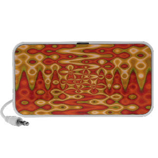 groovy orange yellow abstract travelling speakers