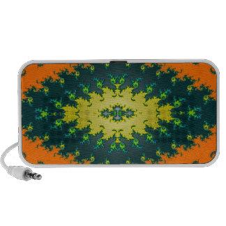 groovy orange yellow black iPod speakers