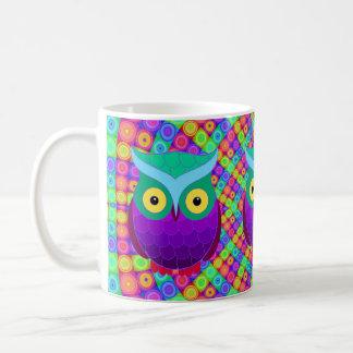 Groovy Owl Basic White Mug