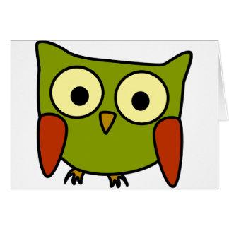 Groovy Owl Greeting Card