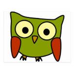 Groovy Owl Postcard
