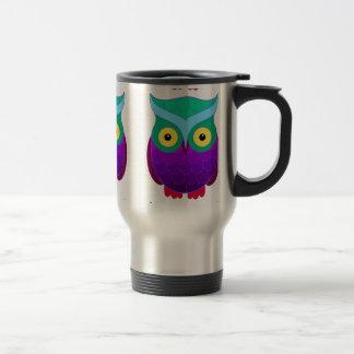 Groovy Owl Stainless Steel Travel Mug