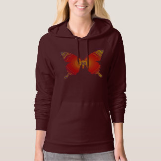 Groovy Peace Butterfly yellow-red Hoodie