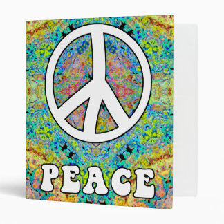 "Groovy Peace Customizable 1"" Binder"