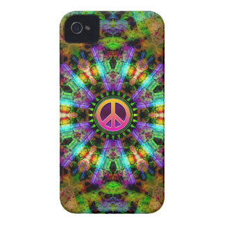 Groovy Peace Sign Rainbow Joy iPhone 4 Case
