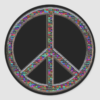 Groovy Peace Sign Stickers