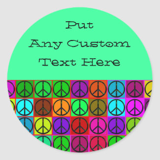 Groovy Peace Signs Stickers
