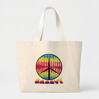 Groovy Peace Turbine Canvas Bag