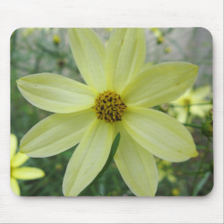 Groovy Petals Pale Yellow Mousepad