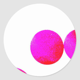groovy pink ball stickers
