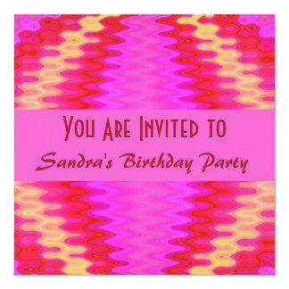 groovy pink birthday card