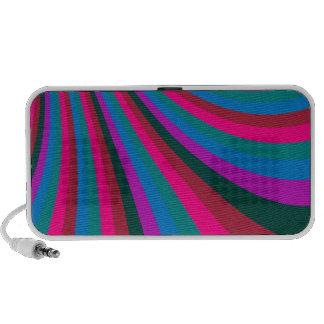 Groovy Pink Blue Rainbow Slide Stripes Pattern Speaker