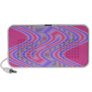 groovy pink purple abstract portable speaker