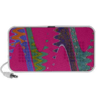 groovy pink wave laptop speakers