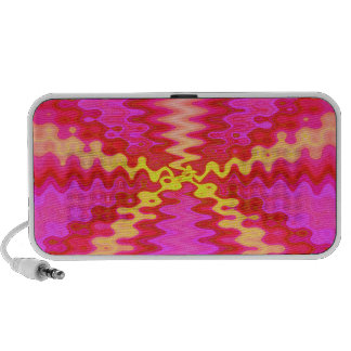 groovy pink yellow travelling speakers