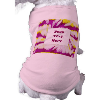 Groovy Pink Yellow White TieDye Swirl Abstract Shirt