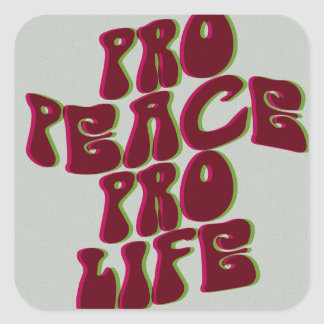 Groovy Pro-Peace Pro-Life Sticker