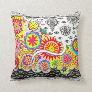 Groovy Psychedelic Cosmic Eyes Art Pillow