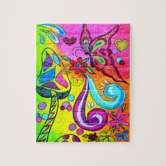 groovy psychedelic magic mushrooms puzzle