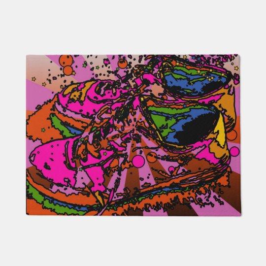 Groovy Psychedelic Sneakers Doormat