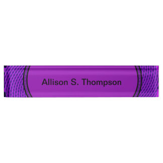 Groovy purple abstract nameplate