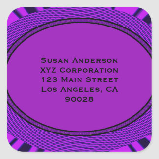 Groovy purple abstract stickers