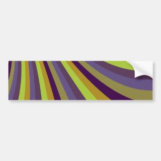 Groovy Purple and Green Rainbow Slide Stripes Patt Bumper Sticker