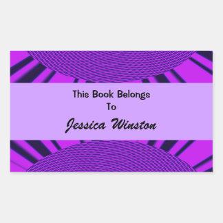 Groovy Purple Bookplate Stickers