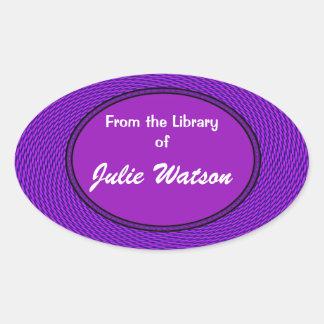 Groovy Purple Bookplate Sticker