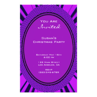 Groovy Purple Christmas 14 Cm X 21.5 Cm Flyer