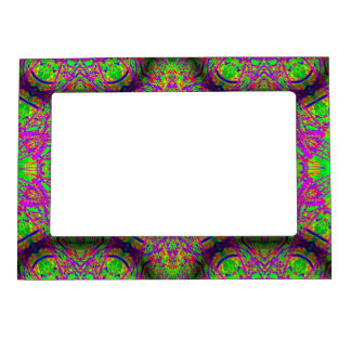 groovy purple green magnetic picture frame