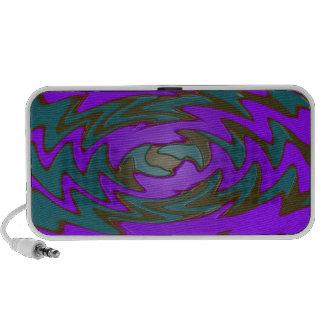 groovy purple teal travelling speaker